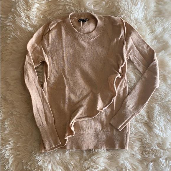 J Crew Mercantile Sweaters - J Crew camel ruffle sweater